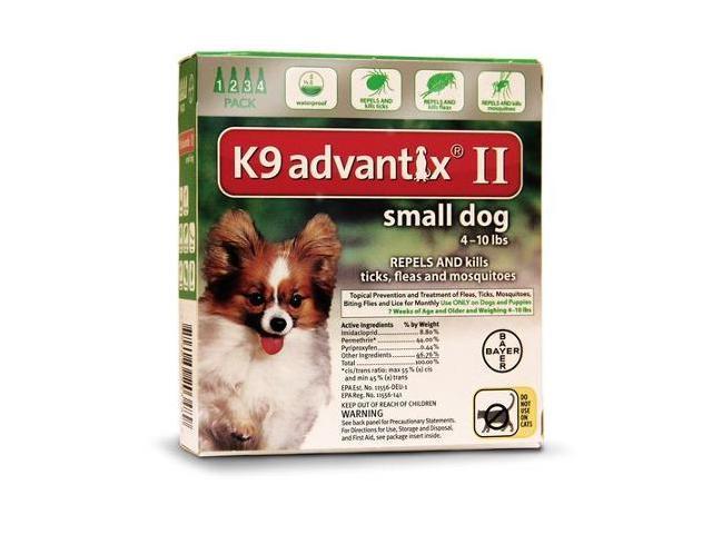 K9 Advantix II for Dogs 4-10 lbs 4pk