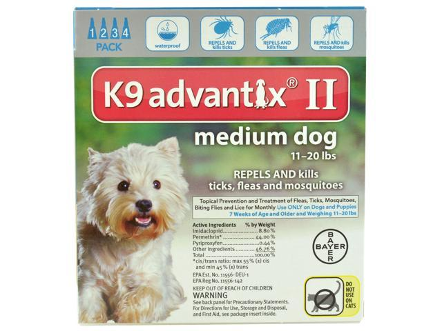 K9 Advantix II Dogs 11-20 lb 4 Pack (4 Month Supply)