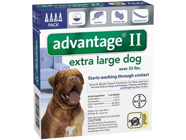 Advantage II for Dogs Over 55 lbs 4pk