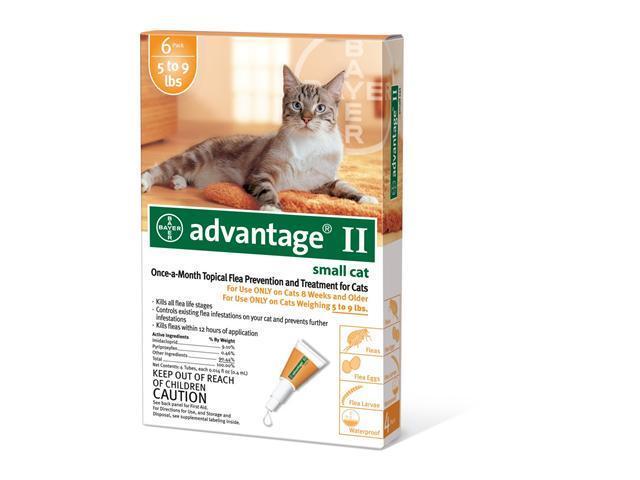 Advantage II for Cats 5-9 lbs 6pk