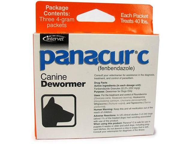 Panacur-C (fenbendazole) Canine Dewormer 4 gram (3 packets)