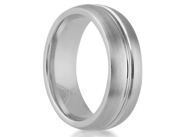 7mm Round Cobalt Chrome Classic Comfort Fit Wedding Band Ring