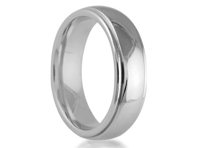Cobalt 6mm Comfort Fit Round Edge Men's Wedding Band Featuring a High Polish Finish