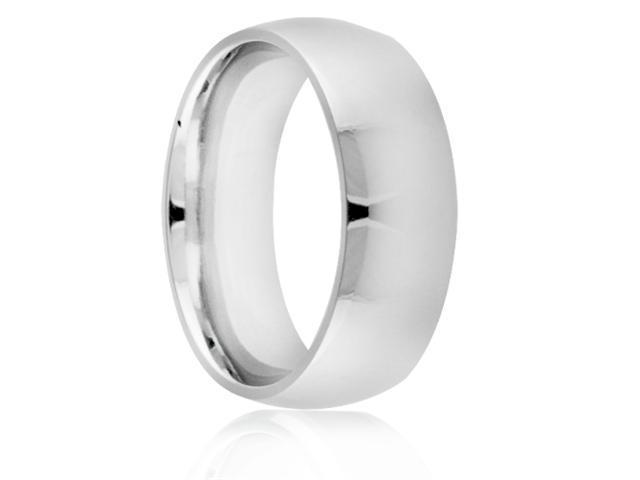 Titanium 8mm Classic Dome Polished Comfort Fit Wedding Band