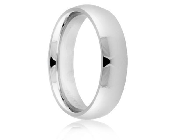 Titanium 6mm Classic Dome Polished Comfort Fit Wedding Band