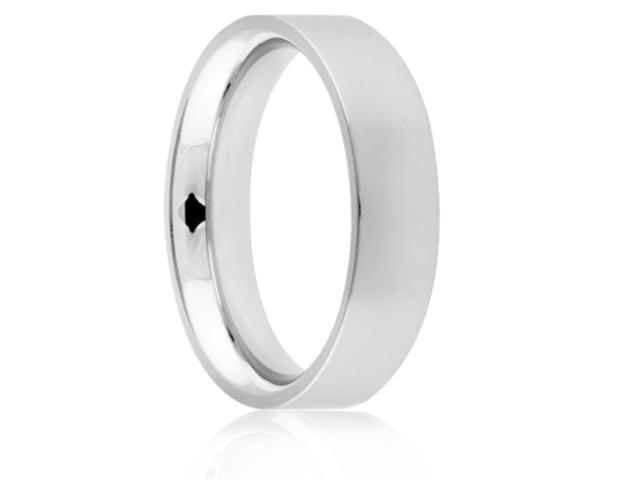 Titanium 6mm Flat Polished Comfort Fit Wedding Band