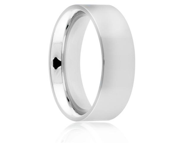 Titanium 8mm Flat Polished Comfort Fit Wedding Band