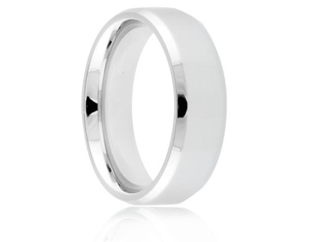 Titanium 7mm Beveled Edge Polished Comfort Fit Wedding Band