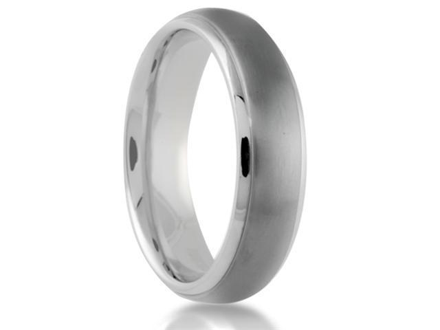 Titanium 6mm Wedding Band Brushed Center with Polished Beveled Edge Finish Comfort Fit Ring
