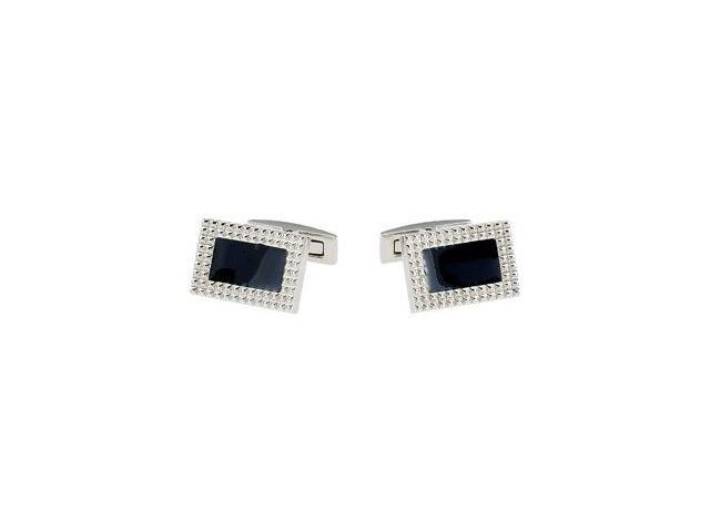 Stainless Steel & Blue Agate Cuff Links