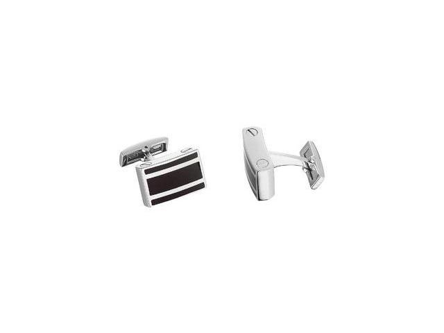 Stainless Steel & Onyx Cuff Links