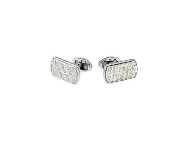 Stainless Steel Cuff Links with CZ's