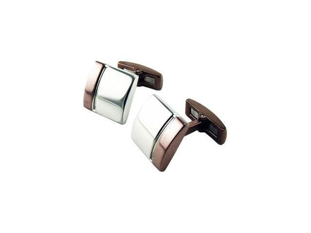 Stainless Steel Dome Cuff Links with Immerse Plating