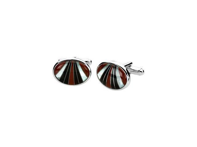 Multicolor Gemstone Cuff Links