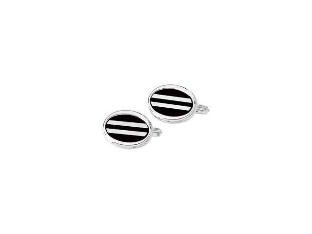 Genuine Onyx & Mother of Pearl Cuff Links