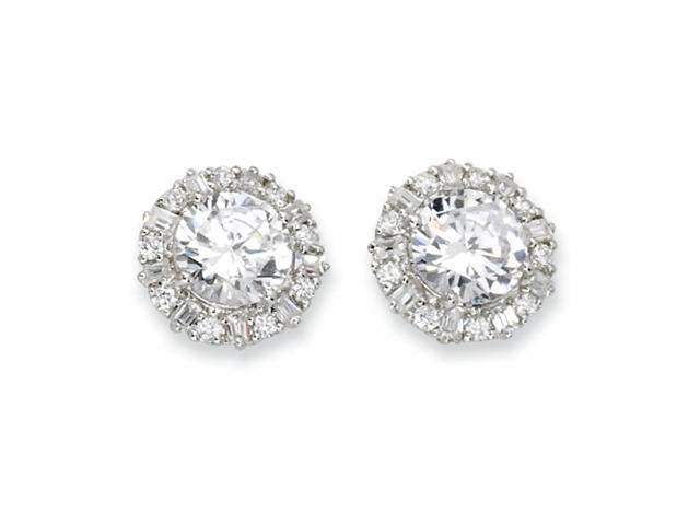 Sterling Silver CZ Post Earrings