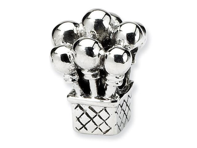 Sterling Silver SimStars Reflections Kids Balloons Bead