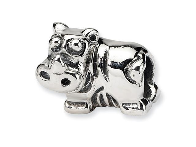 Sterling Silver SimStars Reflections Kids Hippo Bead
