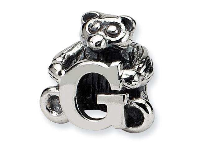 Sterling Silver SimStars Reflections Kids Letter G Bead