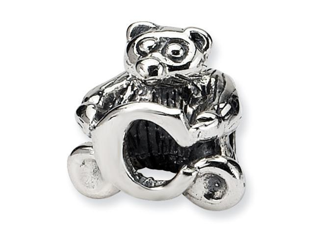 Sterling Silver SimStars Reflections Kids Letter C Bead