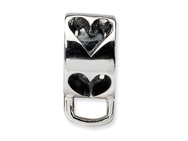 Sterling Silver SimStars Reflections Heart w/Loop for Click-on Bead