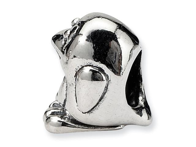 Sterling Silver SimStars Reflections Kids Bird Bead
