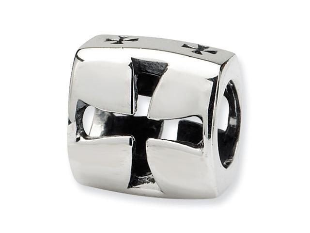 Sterling Silver SimStars Reflections Maltese CroSterling Silver Bead