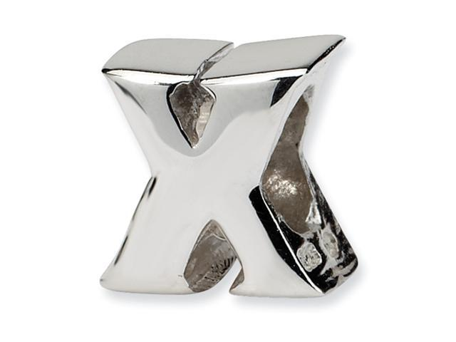 Sterling Silver SimStars Reflections Letter X Bead