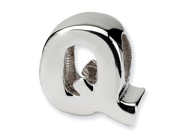 Sterling Silver SimStars Reflections Letter Q Bead