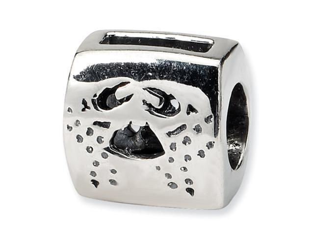 Sterling Silver SimStars Reflections Cancer Zodiac Antiqued Bead