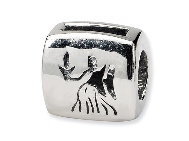 Sterling Silver SimStars Reflections Virgo Zodiac Antiqued Bead