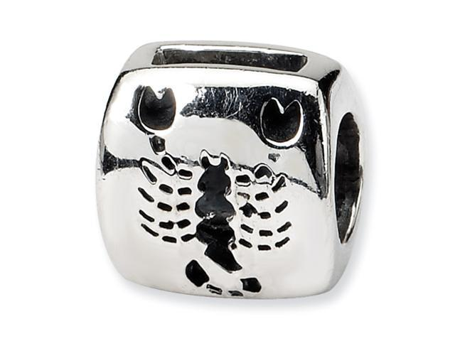 Sterling Silver SimStars Reflections Scorpio Zodiac Antiqued Bead