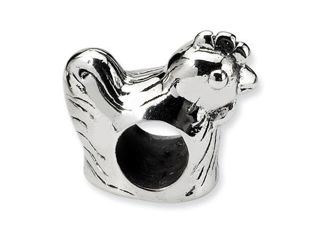 Sterling Silver SimStars Reflections Chicken Bead