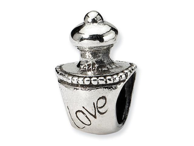 Sterling Silver SimStars Reflections Love Perfume Bottle Bead