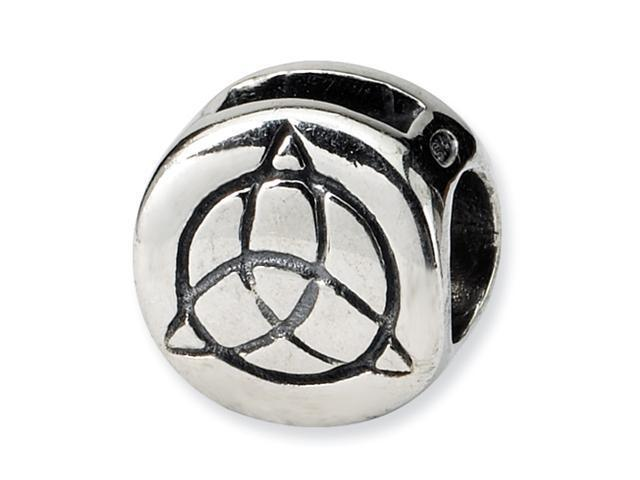 Sterling Silver SimStars Reflections Celtic Trinity Bead
