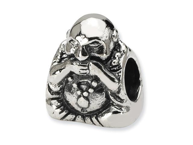 Sterling Silver SimStars Reflections Speak No Evil Buddha Bead