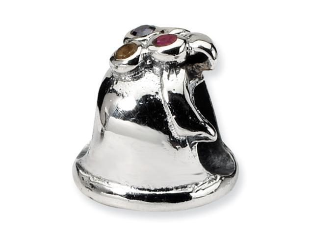 Sterling Silver SimStars Reflections Bell Bead