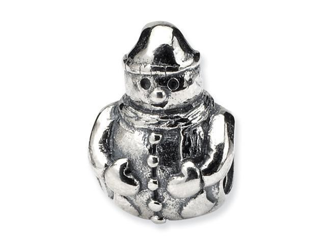 Sterling Silver SimStars Reflections Snowman Bead