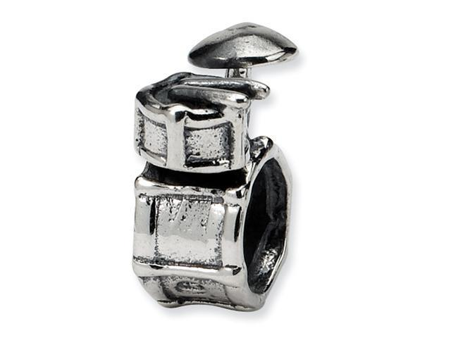 Sterling Silver SimStars Reflections Drum Set Bead