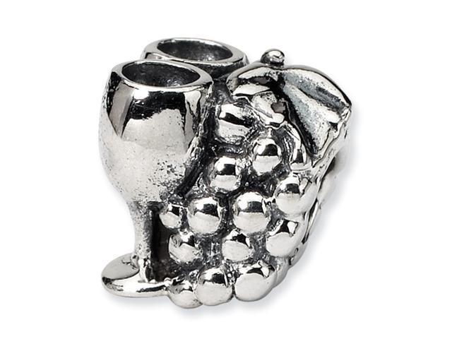 Sterling Silver SimStars Reflections Grapes & GlaSterling Silveres Bead
