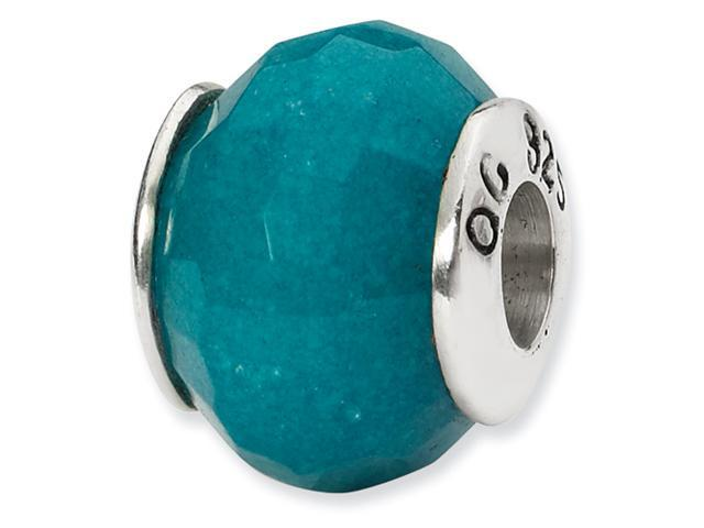 Sterling Silver SimStars Reflections Light Blue Quartz Stone Bead
