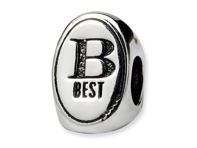 Sterling Silver SimStars Reflections Best Friend Trilogy Oval Bead