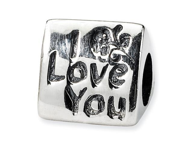 Sterling Silver SimStars Reflections Mom Trilogy Bead