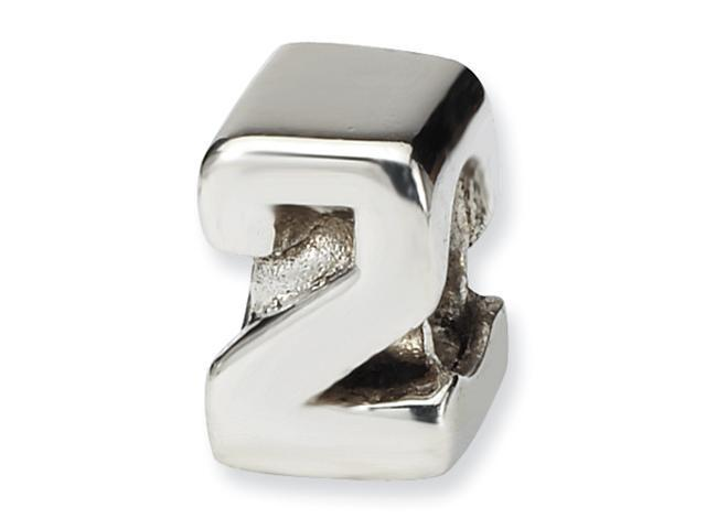Sterling Silver SimStars Reflections Kids Numeral 2 Bead