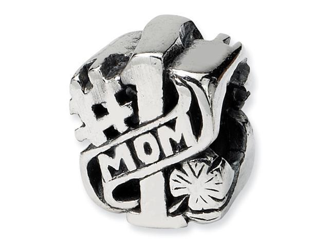 Sterling Silver SimStars Reflections #1 Mom Bead