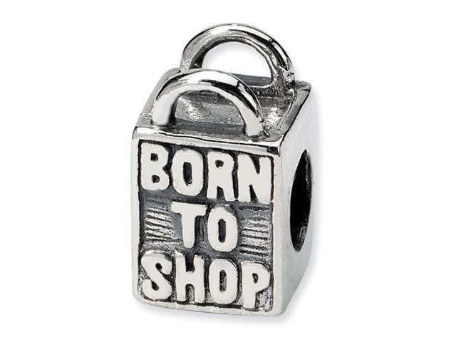 Sterling Silver SimStars Reflections Born to Shop Bead
