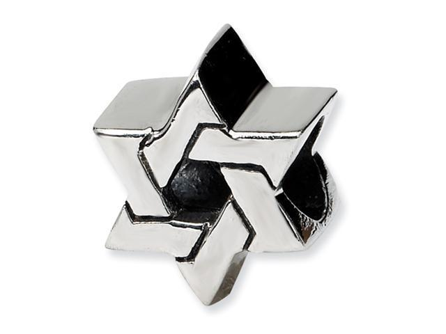 Sterling Silver SimStars Reflections Star of David Bead