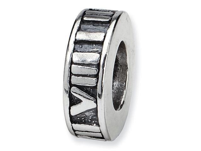 Sterling Silver SimStars Reflections Roman Numeral Spacer Bead