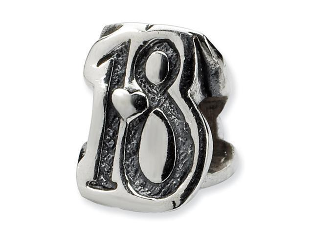 Sterling silver SimStars Reflections Sweet 18 Bead