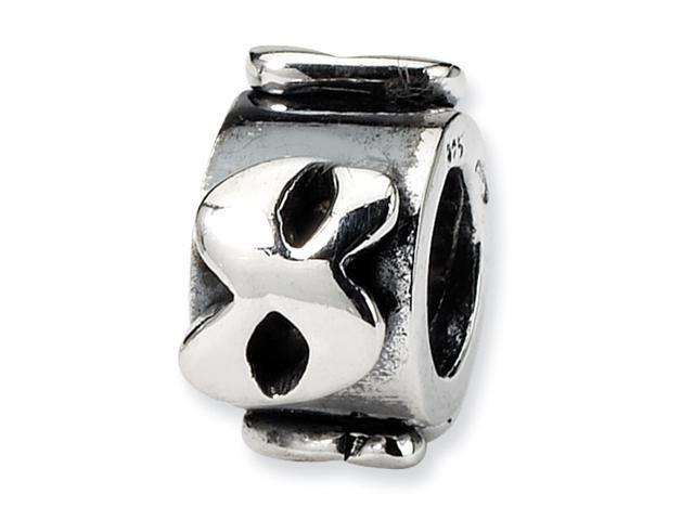 Sterling Silver SimStars Reflections Number 8 MeSterling Silverage Bead